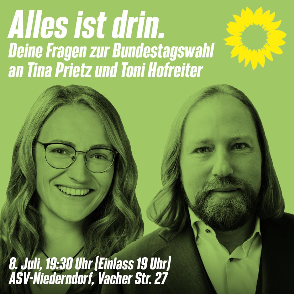 Diskussion mit Toni Hofreiter